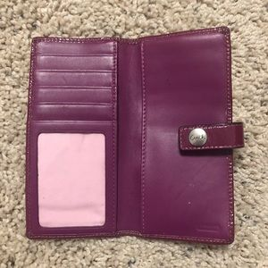 COACH | Purple Button Clasp Patent Leather Wallet
